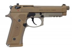 Beretta M9A3 9mm 5.2in Threaded Tan w/ Ammo Can Package 17Rd JS92M9A3M