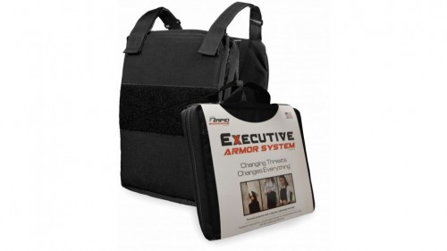 PHALANX EXECUTIVE ARMOR SYSTEM WITH LEVEL IIIA SOFT ARMOR PANELS BLACK