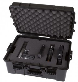 FLAMBEAU GUNCASE STACKHOUSE PISTOL CASE BLACK MULTIPLE HANDGUNS PLUCK FOAM 16.2X11.3X6.75
