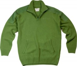 BERETTA MEN'S CLASSIC HALF ZIP SWEATER SMALL LIGHT GREEN