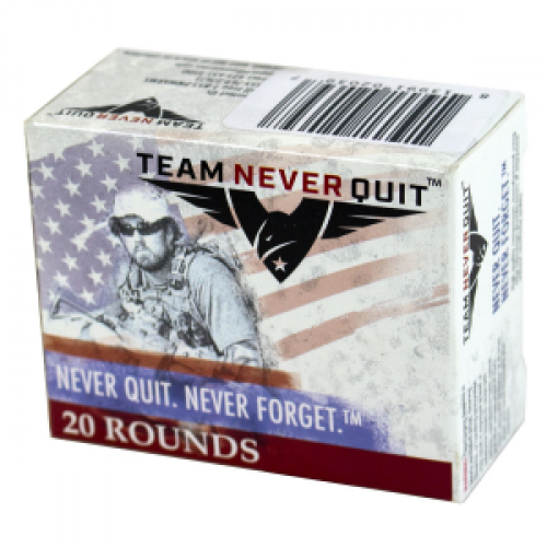 Team Never Quit Self Defense Handgun Ammuntion .40 S&W 155 gr SCHP 20/ct