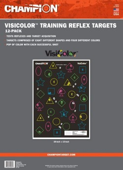 Champion Targets 45833 VisiColor Training Reflex 12 Targets