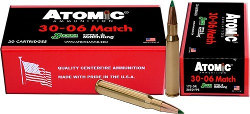 Atomic Ammunition .30-06 Match 175gr TMK 20rd Box 00463