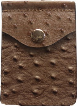 Concealed Carrie CONCEALED CARRIE COMPAC WALLET OSTRICH PRINT