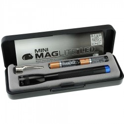 MAG-LITE SPECTRUM SERIES: MINI MAGLITE BLK  LED AAA MMAAA BLUE LDG
