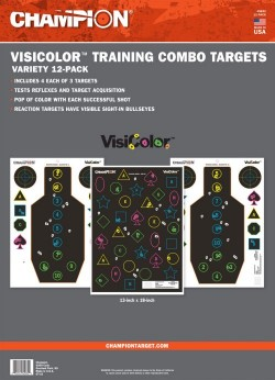 Champion Targets 45832 VisiColor Training Combo 12 Targets