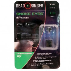 DEAD RINGER NIGHT SIGHTS SP  TRITIUM GRN/GRN SPRINGFIELD XDS 45ACP OR 9MM