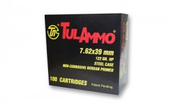7.62x39mm - 122 Grain HP - Tula - 100 Rounds