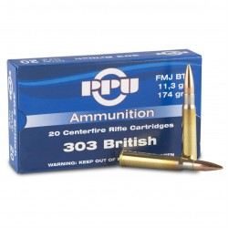 Prvi Partizan Ammunition .303 British 180gr SP BT 20rd Box 804116