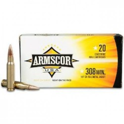 ARMSCOR AMMO 308WIN 168GR HPBT 20/10