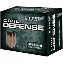 Liberty Ammunition LA-CD-38-025 38SP 50GR 20 ROUNDS