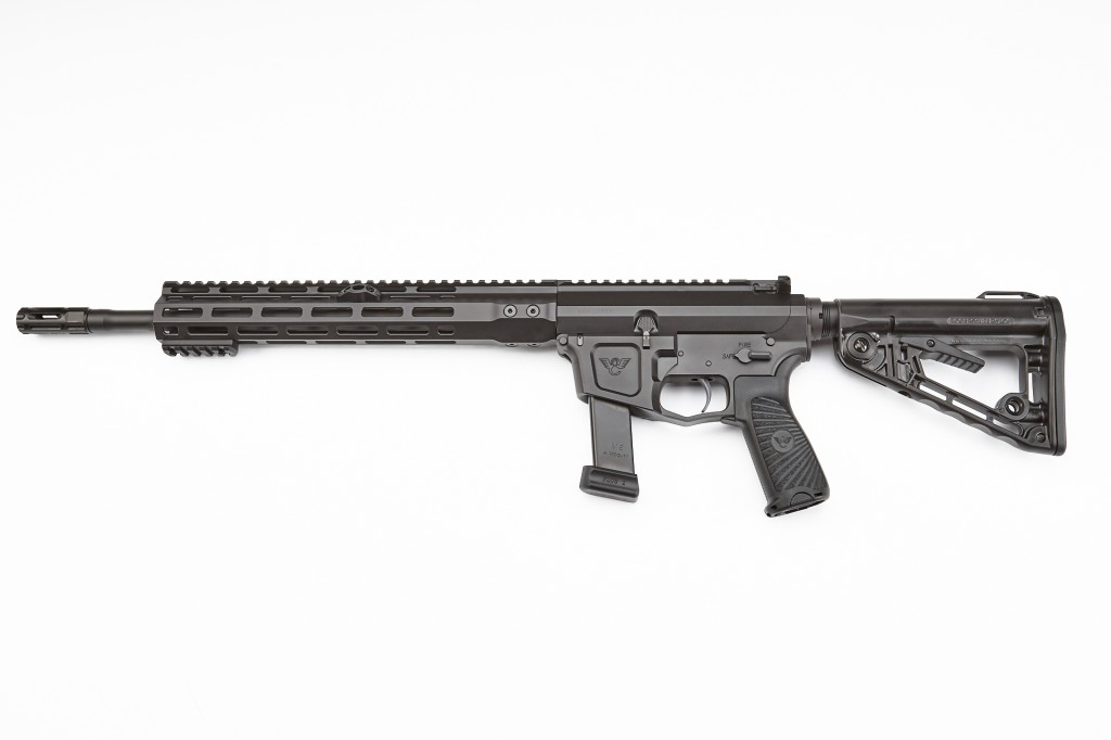"Wilson Combat AR9 Carbine, Beretta Receiver, 9mm, 14.7"" Barrel, 1-10 Twist, Fluted, Black"