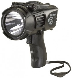 Streamlight Waypoint Pistol Grip Spotlight w/ 12V DC Power Cord and Polymer Mount, Black, Box Pack 44902