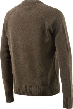 BERETTA MEN'S CLASSIC V-NECK BROWN SWEATER