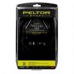 Peltor Sport Tactical 300 Electronic Hearing Protector, Black, TAC300-OTH