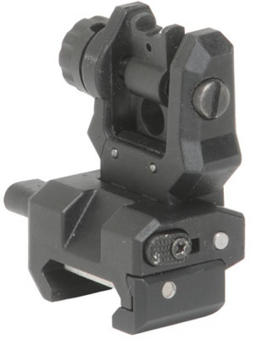 CAA Low Profile Rear Flip Sight Black