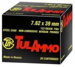 Tula 762X39 124GR FMJ 100 ROUNDS
