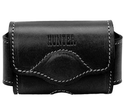 HUN LEATHER PHONE CASE BLK