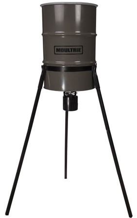 Moultrie 55-Gallon Pro Hunter Tripod Metal Deer Feeder With Quick Lock Adapter