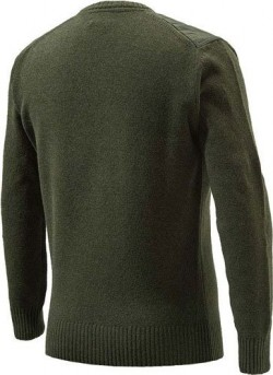 BERETTA MEN'S CLASSIC ROUND NECK SWEATER MEDIUM GREEN