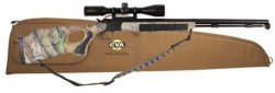 CVA Accura V2 Muzzleloader with Thumbhole Stock and Scope and Gun Case Combo Nitride/Stainless Steel/Realtree APG