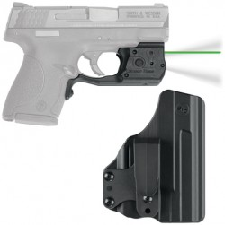 Crimson Trace Laserguard Pro Green Laser / 150 Lumen LED White Light for Smith and Wesson M/P 45 Shield w/ BladeTech IWB Holster, LL-808G-HBT